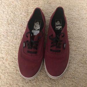 Vans Authentic Lo Pro Skate Shoe Burgundy